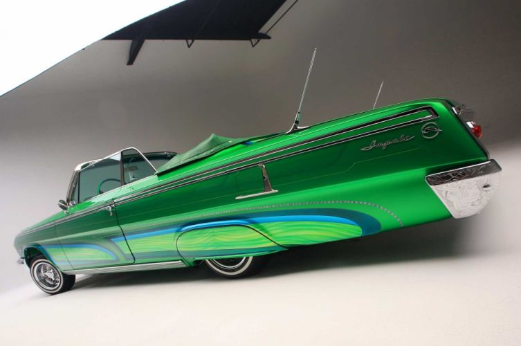1962 CHEVY IMPALA CONVERTIBLE custom tuning hot rods rod gangsta lowrider wallpaper