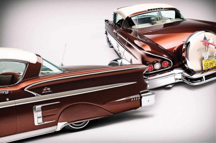 1958 Chevrolet Impala custom tuning hot rods rod gangsta lowrider wallpaper