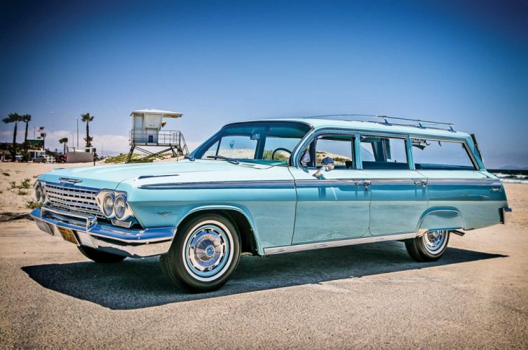 1962 CHEVROLET IMPALA custom tuning hot rods rod gangsta lowrider stationwagon wallpaper