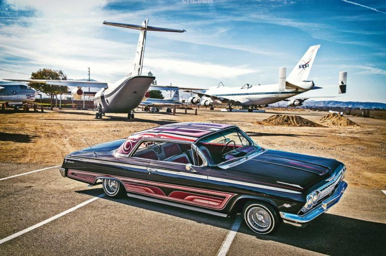 1962 Chevrolet Impala custom tuning hot rods rod gangsta lowrider wallpaper