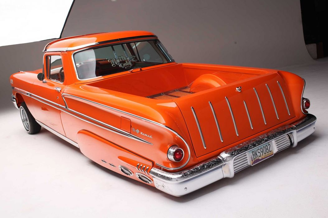 1958 CHEVROLET NOMAD custom tuning hot rods rod gangsta lowrider pickup truck wallpaper