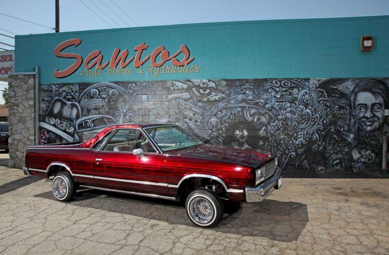 1985 CHEVROLET EL CAMINO custom tuning hot rods rod gangsta lowrider pickup truck wallpaper