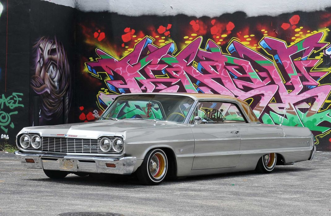 1964 CHEVROLET IMPALA custom tuning hot rods rod gangsta lowrider wallpaper