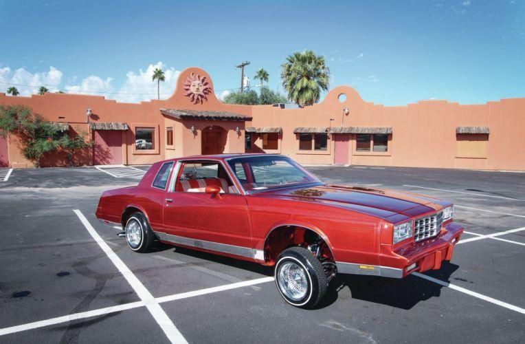 1984 CHEVROLET MONTE CARLO custom tuning hot rods rod gangsta lowrider wallpaper