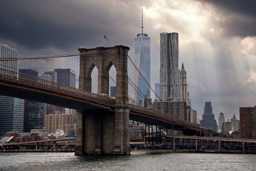 New York City Cities Brooklyn Bridge Manhattan Ville Usa Building Wallpaper
