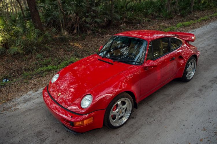 Porsche 911 Turbo 3 6 S Flachbau US-spec cars red (964) 1994 wallpaper
