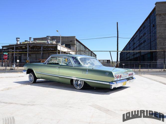 1963 CHEVROLET IMPALA SS CONVERTIBLE custom tuning hot rods rod gangsta lowrider wallpaper