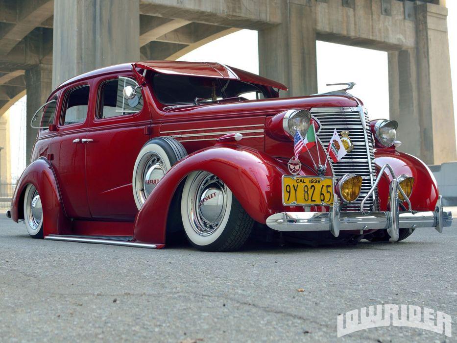 1938 CHEVROLET MASTER DELUXE custom tuning hot rods rod gangsta lowrider wallpaper