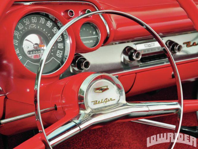 1957 CHEVY BEL AIR CONVERTIBLE custom tuning hot rods rod gangsta lowrider wallpaper