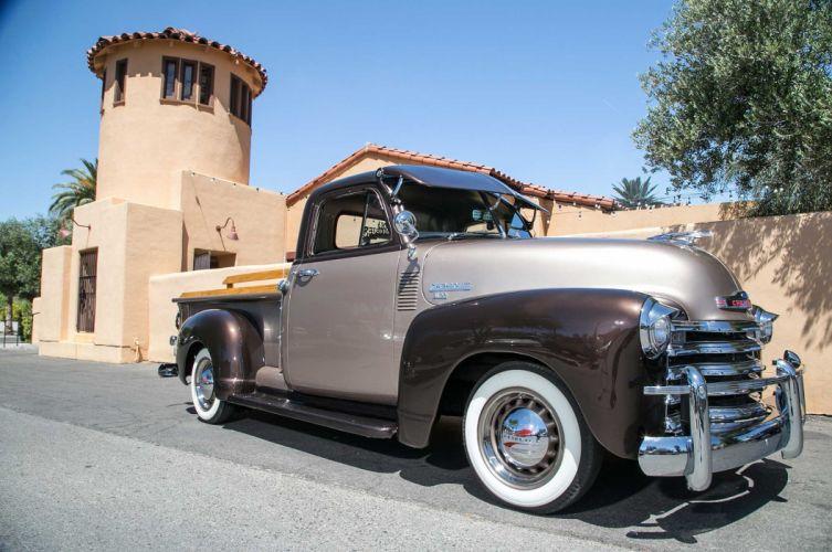 1953 CHEVROLET 3100 custom pickup tuning hot rods rod gangsta lowrider truck wallpaper