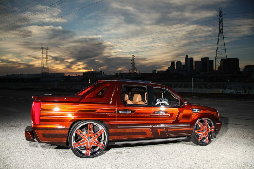 2008 CADILLAC ESCALADE EXT custom suv truck tuning hot rods rod gangsta lowrider wallpaper
