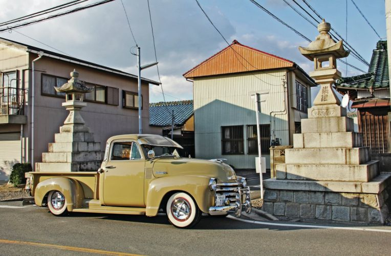 1951 CHEVROLET 3100 custom pickup tuning hot rods rod gangsta lowrider truck wallpaper