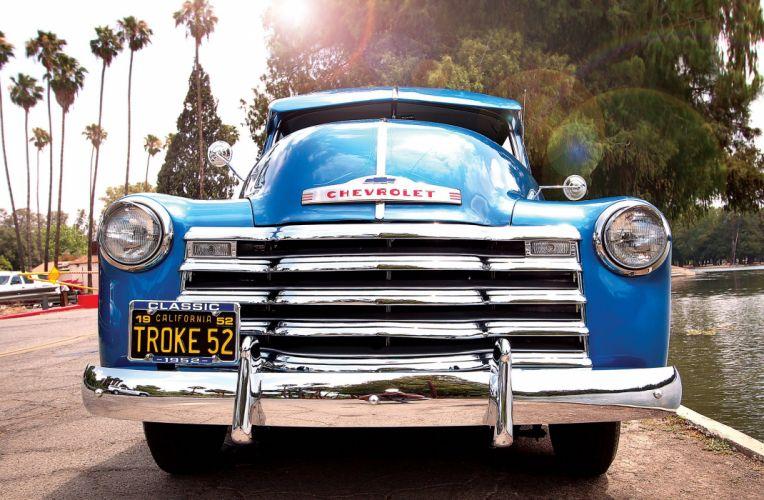 1952 CHEVROLET 3100 PICKUP custom pickup tuning hot rods rod gangsta lowrider truck wallpaper