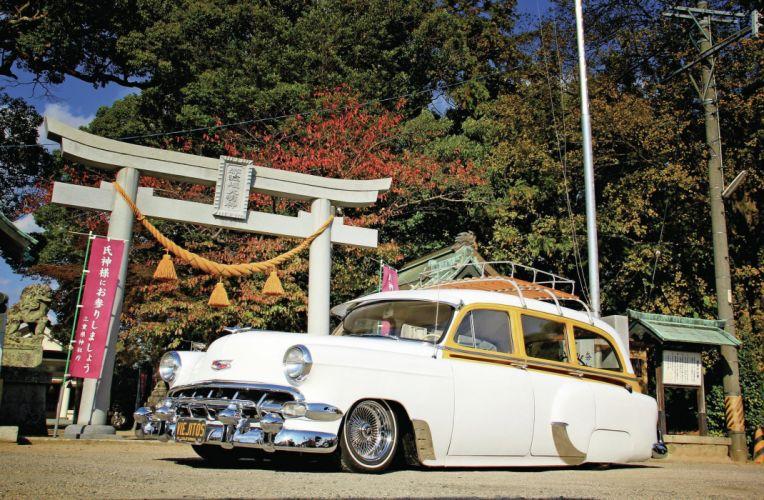 1954 CHEVROLET 3100 custom stationwagon truck tuning hot rods rod gangsta lowrider wallpaper