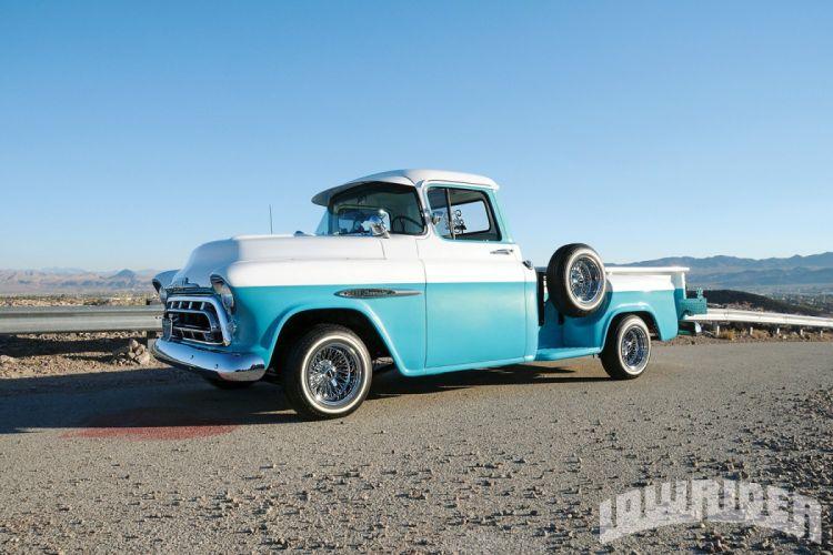 1957 CHEVROLET TRUCK custom pickup tuning hot rods rod gangsta lowrider truck wallpaper