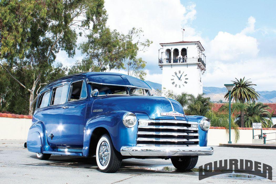 1952 CHEVROLET SUBURBAN custom stationwagon truck tuning hot rods rod gangsta lowrider wallpaper