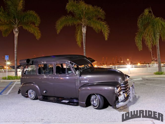 1952 CHEVROLET SUBURBAN custom suv truck tuning hot rods rod gangsta lowrider wallpaper