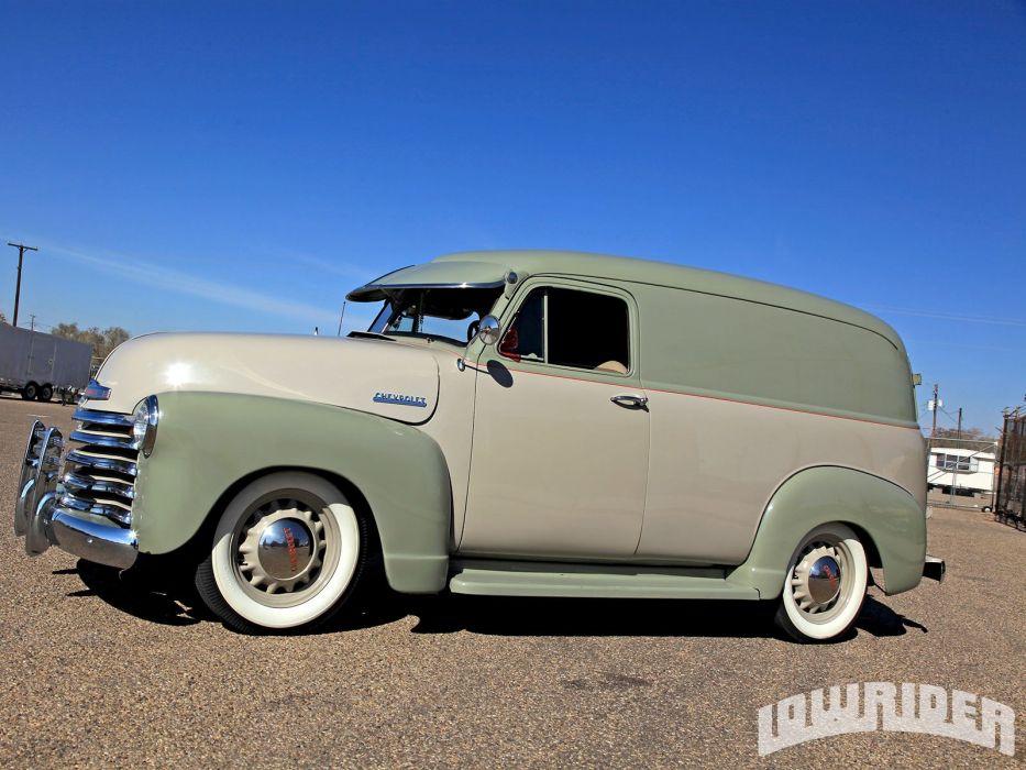 1951 CHEVROLET PANEL custom stationwagon truck tuning hot rods rod gangsta lowrider wallpaper