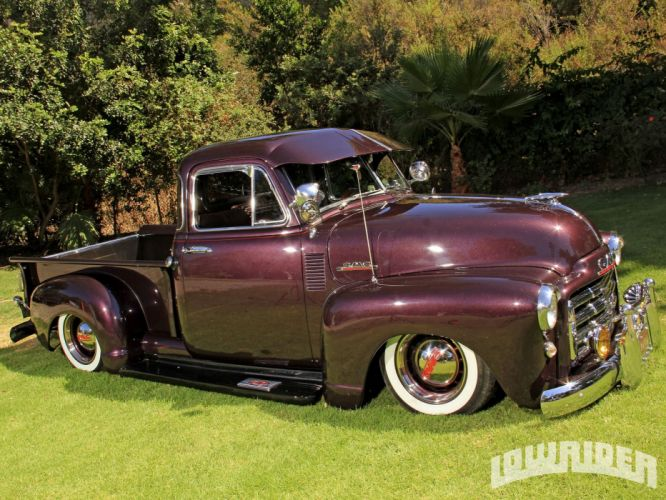 1952 GMC 1500 custom pickup tuning hot rods rod gangsta lowrider truck wallpaper