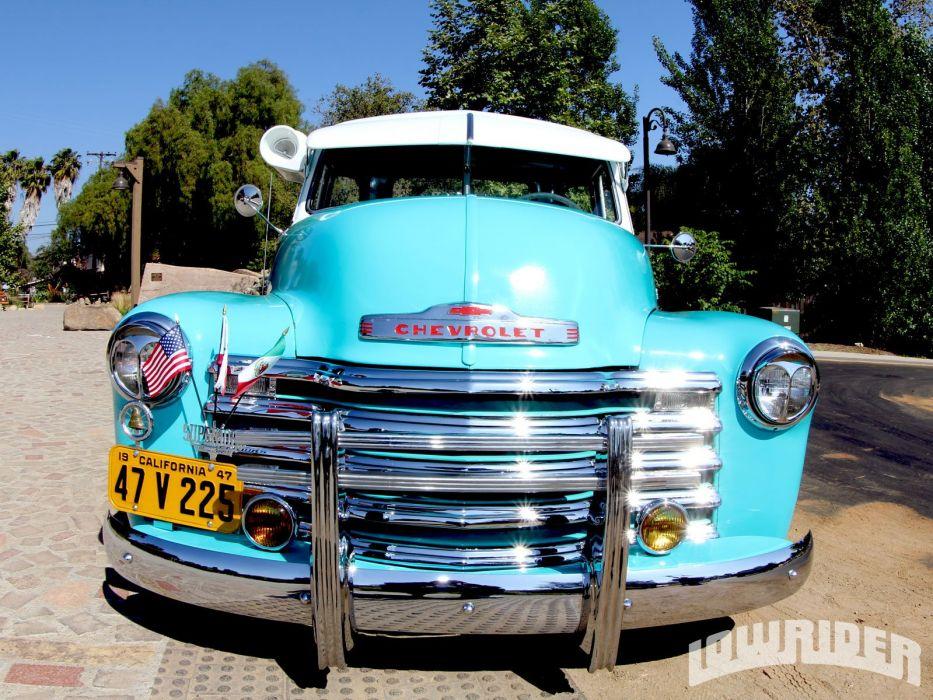 1947 CHEVROLET 3100 custom pickup tuning hot rods rod gangsta lowrider truck wallpaper