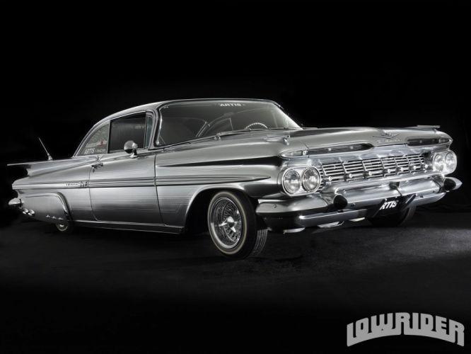 1959 CHEVROLET IMPALA lowrider custom tuning hot rod rods wallpaper