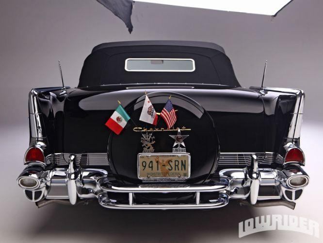 1957 CHEVROLET BEL AIR lowrider custom tuning hot rod rods wallpaper