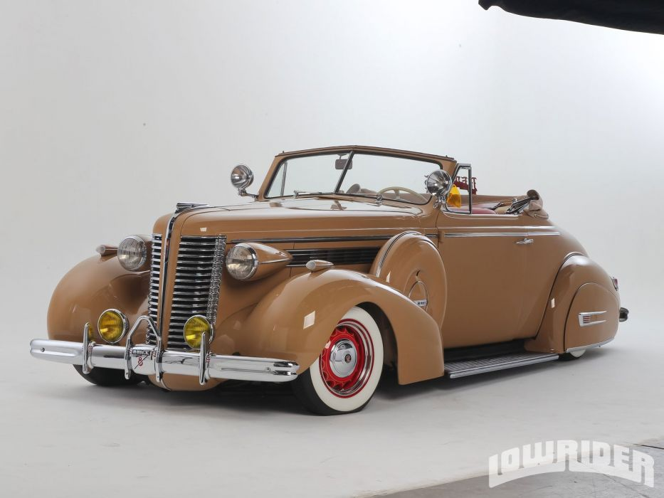 1938 Buick Convertible Lowrider Custom Tuning Hot Rod Rods Wallpaper
