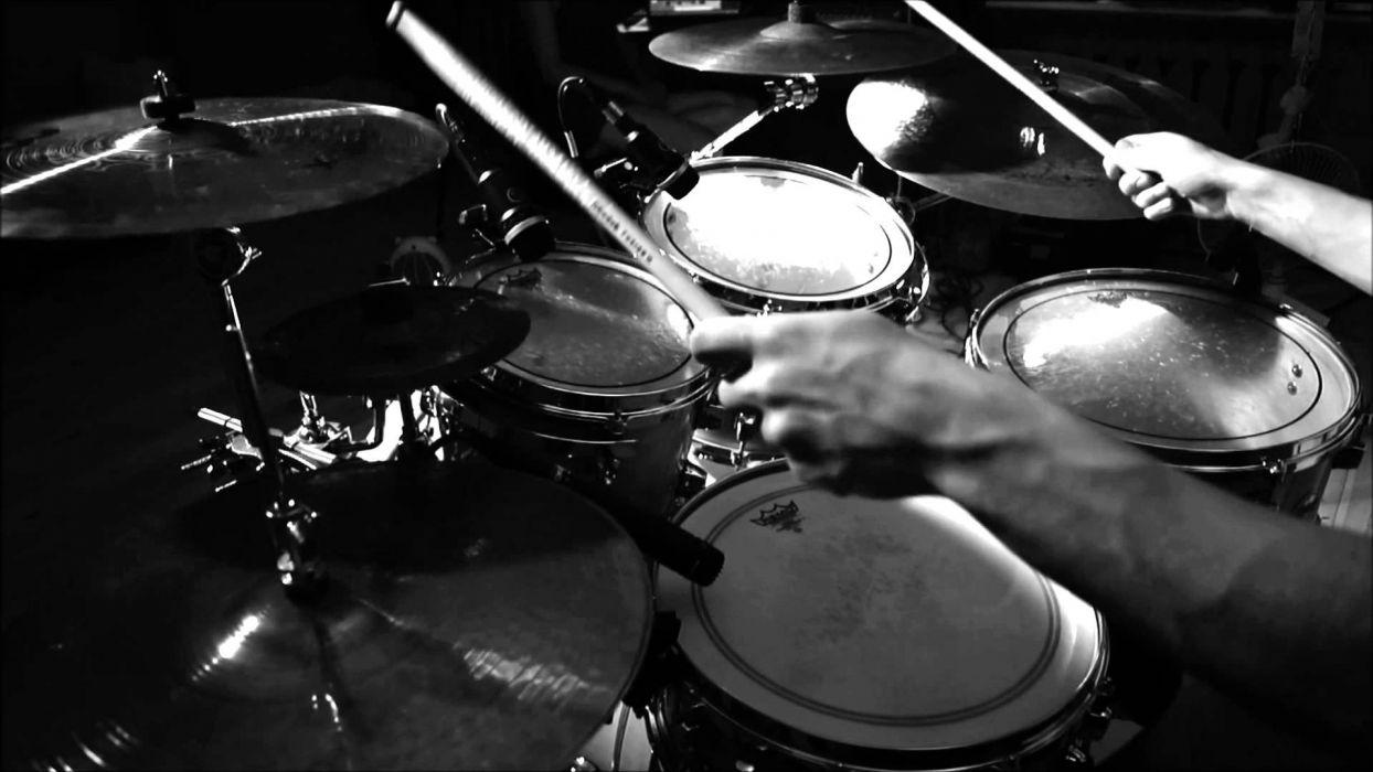 Drums Music Percussion Drum Set Kit Wallpaper 1920x1080