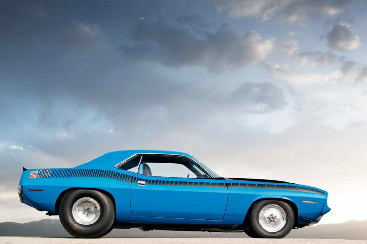 1970 plymouth cuda cars blue Pro Street wallpaper