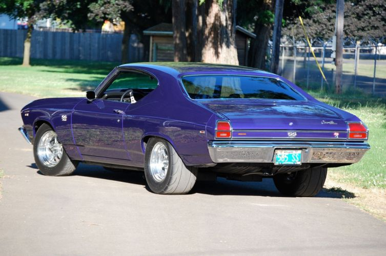 1969 chevy Chevelle cars modified blue wallpaper