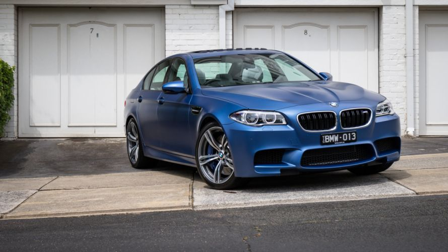 BMW M5 Pure Edition (F10) 2015 cars sedan blue wallpaper