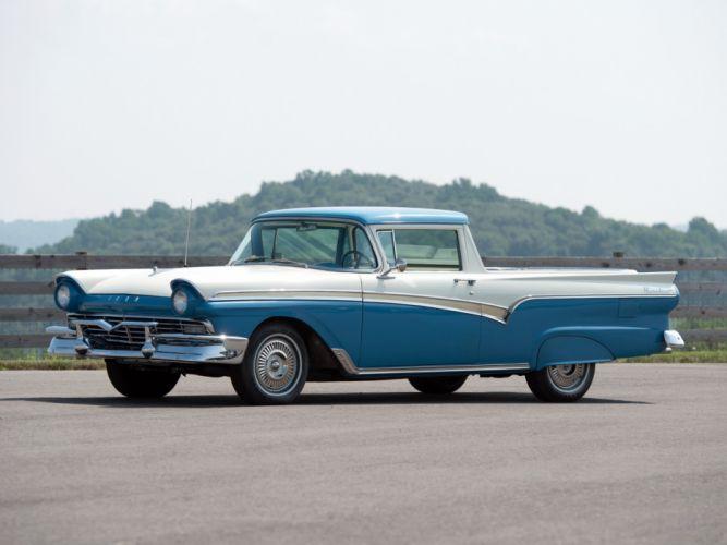 1957 Ford Ranchero Custom 300 Sedan Pickup cars classic wallpaper
