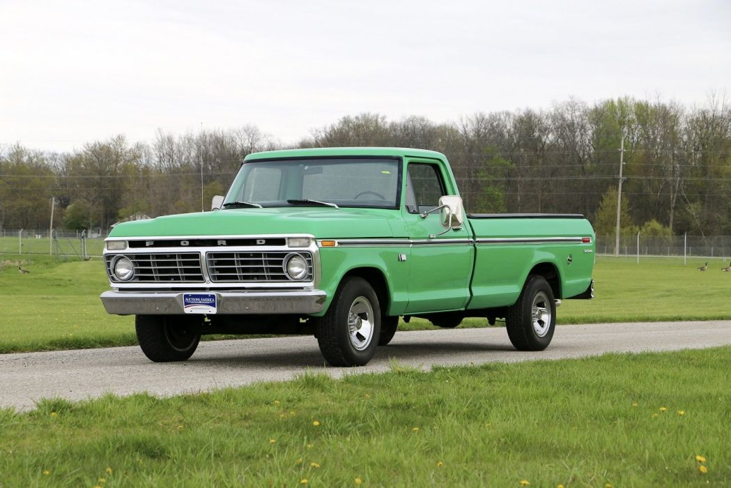 1973 Ford F-100 Styleside Pickup cars truck classic wallpaper