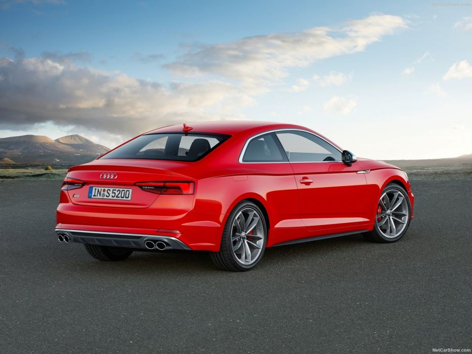 Audi S5 Coupe cars red 2016 wallpaper