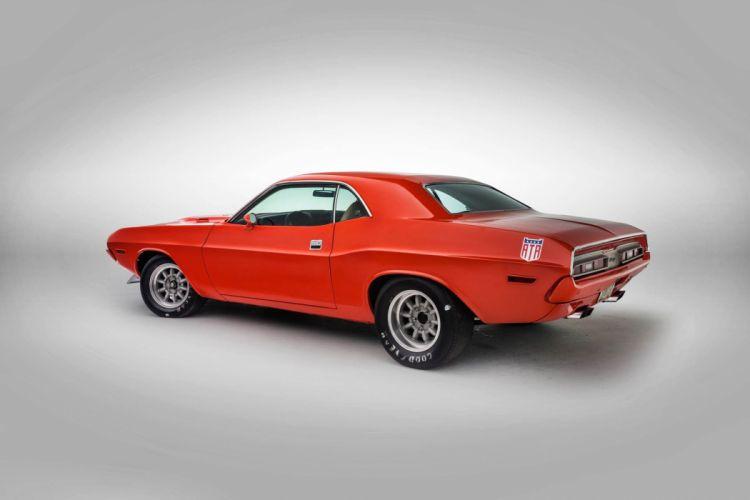 1971 dodge Challenger cars orange Street-Legal Racecar wallpaper