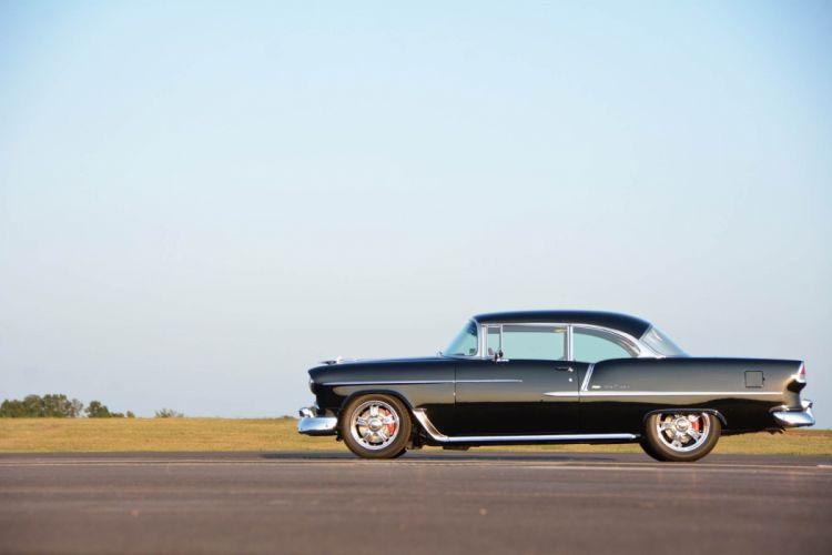 1955 Chevrolet Bel Air cars black classic modified wallpaper