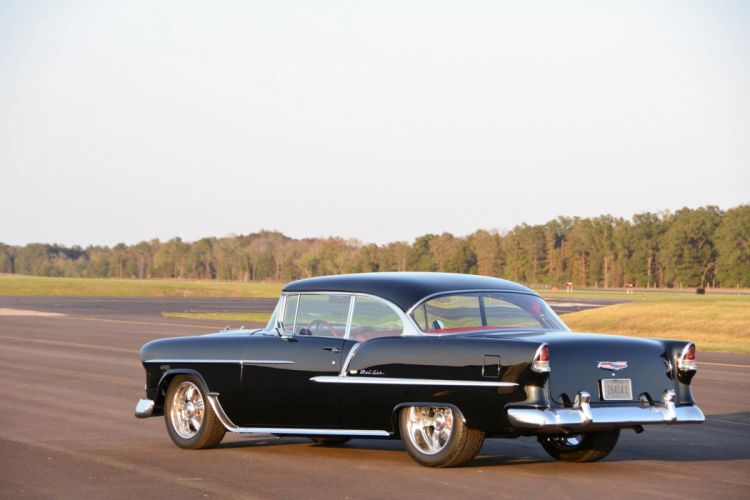 1955 Chevrolet Bel Air cars black classic modified wallpaper