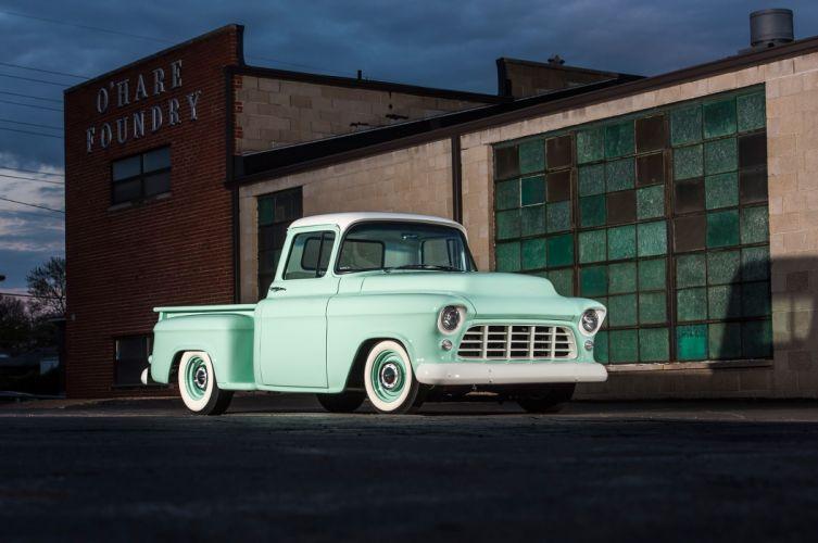 1955 Chevrolet 3100 cars pickup classic wallpaper