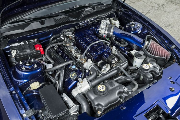 2010 Mustang shelby GT500 blue cars modified wallpaper