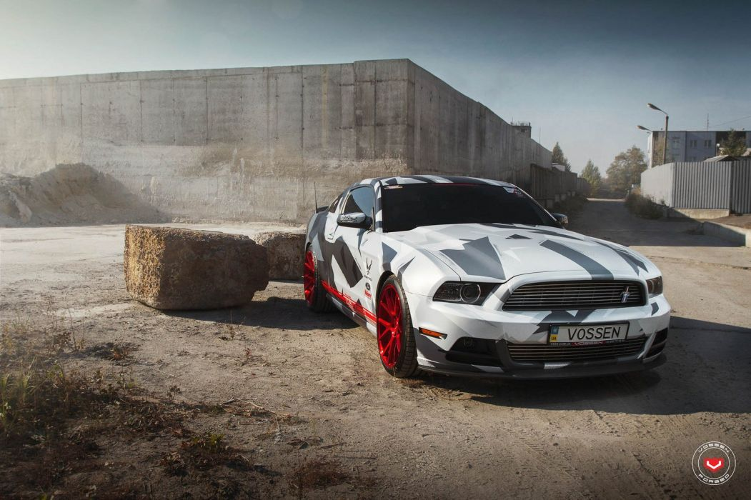 Ford Mustang Vossen wheels cars wallpaper