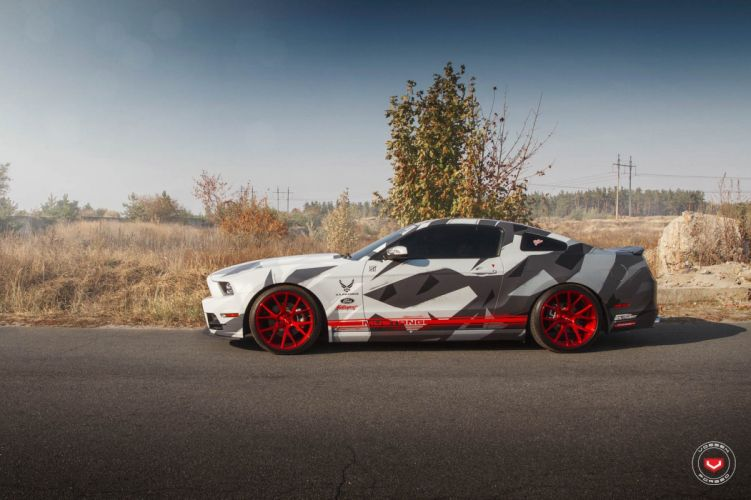 Ford Mustang Vossen wheels cars wallpaper