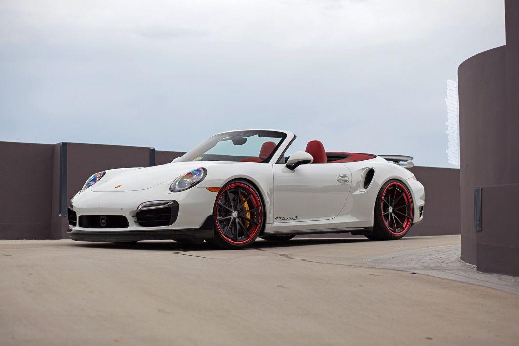 Porsche 991 Turbo convertible HRE wheels cars wallpaper
