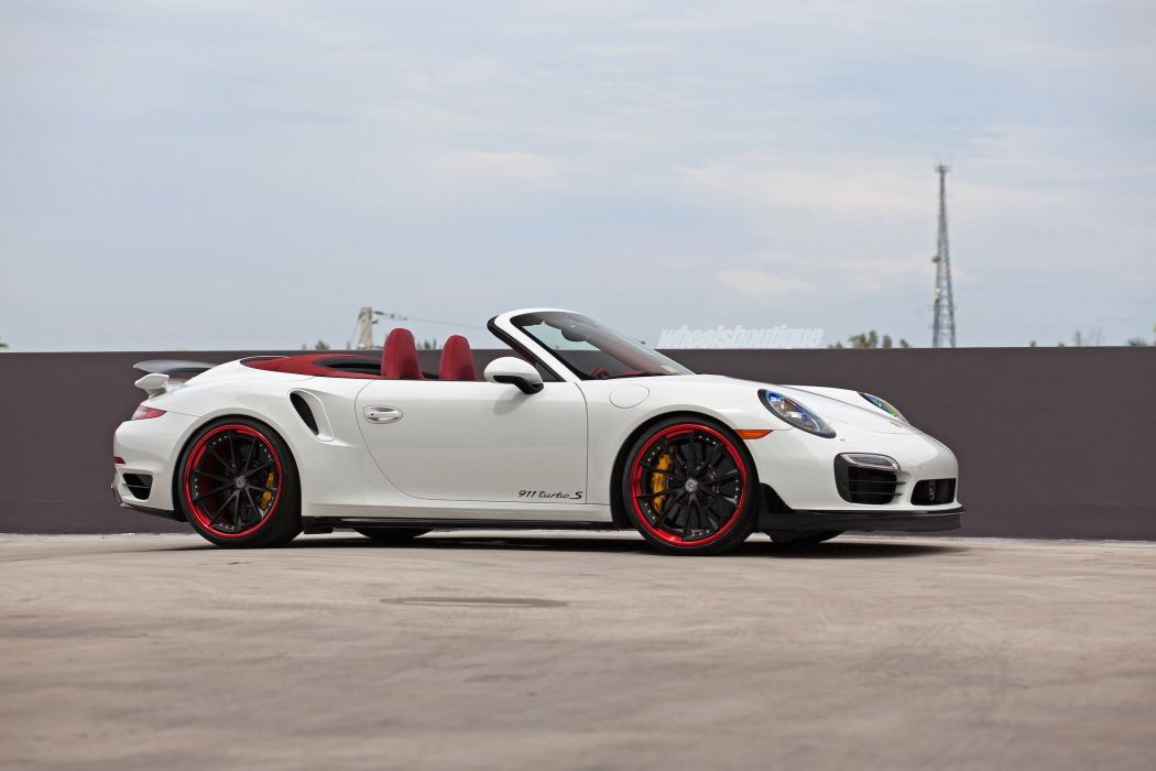 Porsche 991 Turbo convertible HRE wheels cars wallpaper
