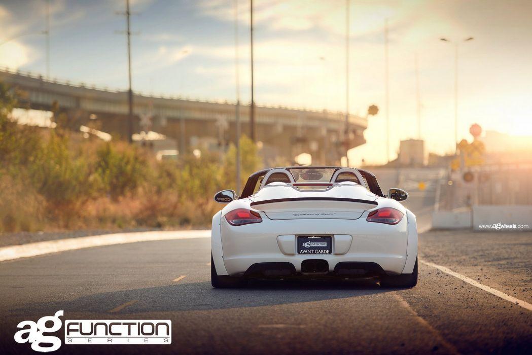 Porsche boxster spyder avant garde wheels cars wallpaper