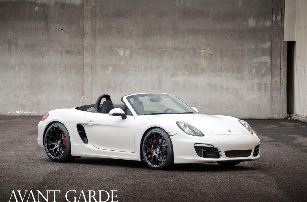 Porsche boxster avant garde wheels cars wallpaper
