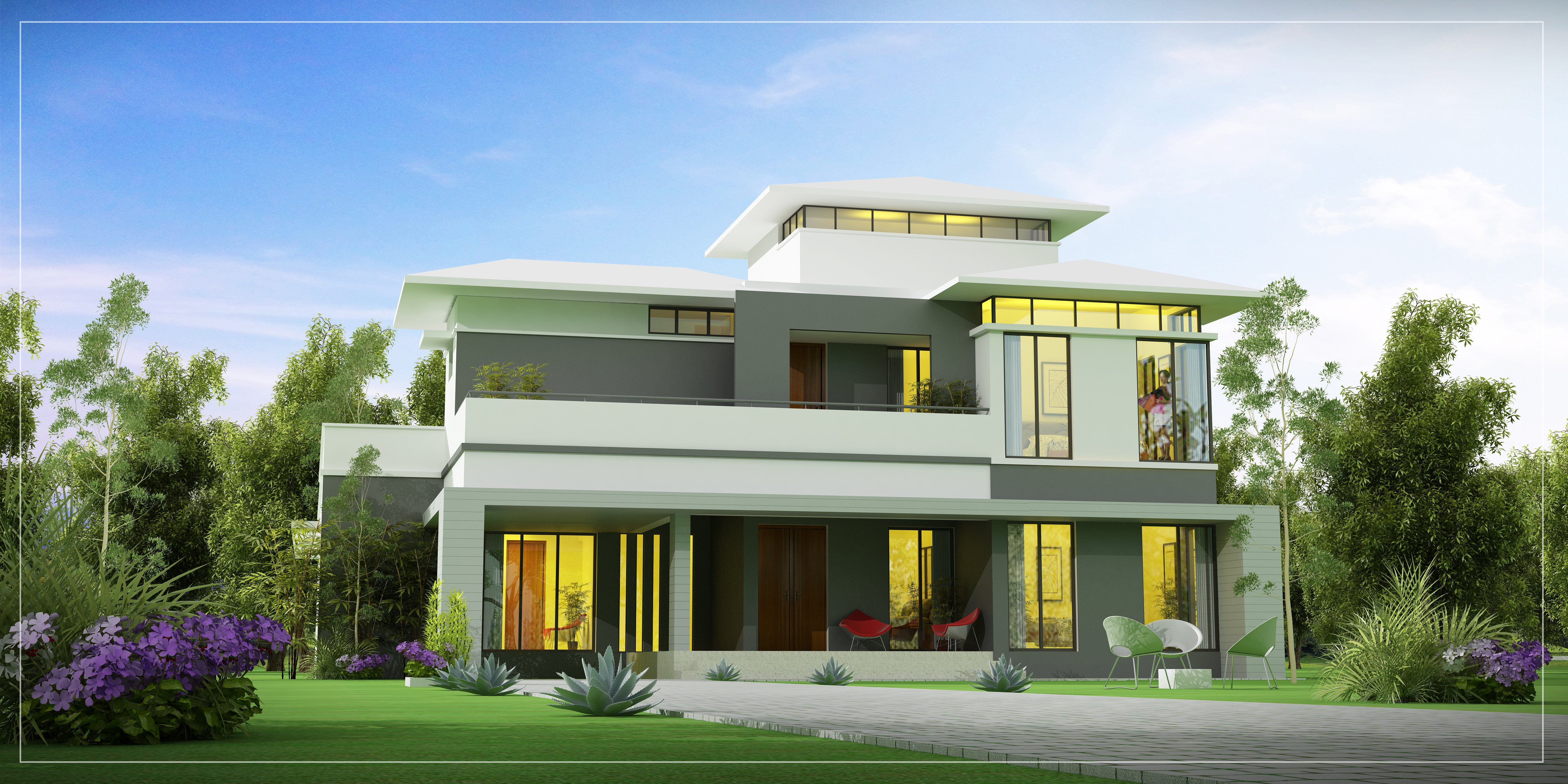 Mansion house architecture luxury building design for Villas apartments