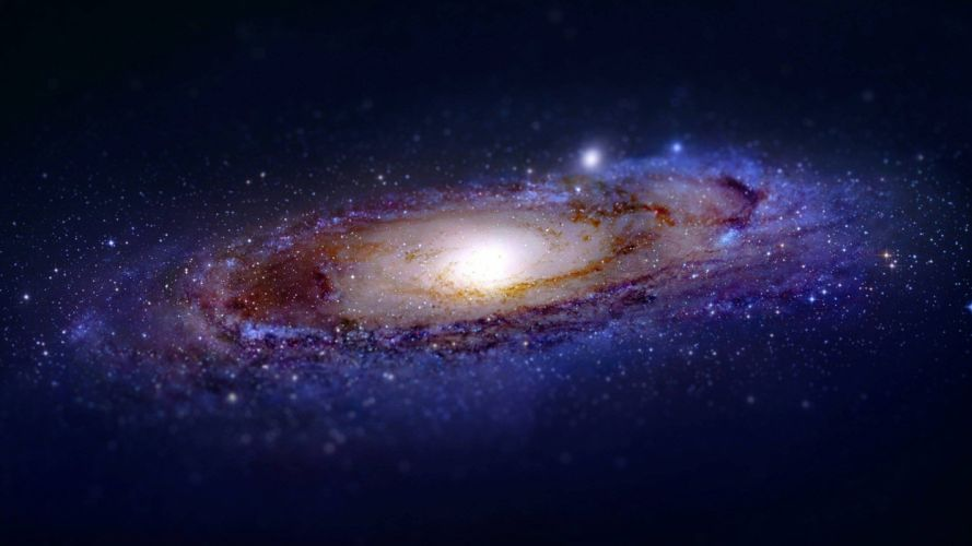space tilt shift galaxy wallpaper
