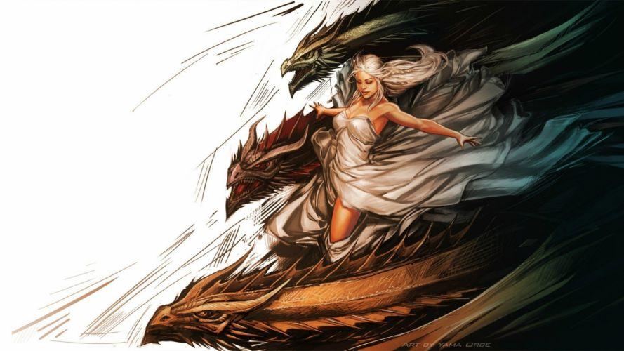 dragon Daenerys Targaryen Game of Thrones wallpaper