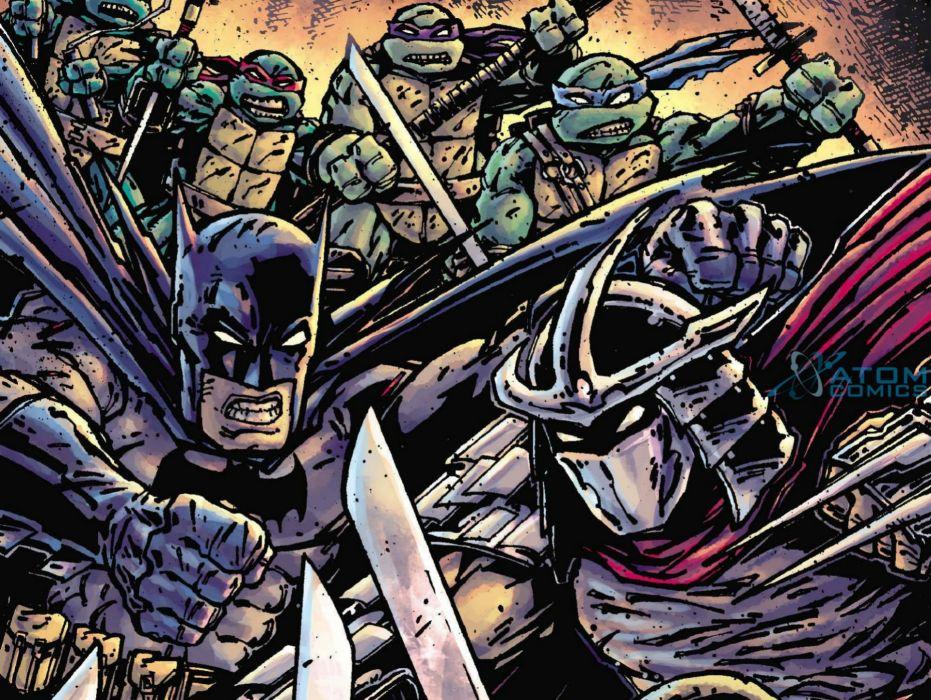 TEENAGE MUTANT NINJA TURTLES fantasy sci-fi adventure warrior animation action fighting tmnt poster batman wallpaper
