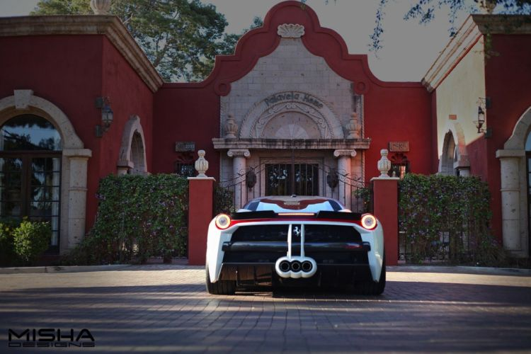2016 Ferrari 458 Misha Design cars bobykit white modified wallpaper